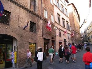 Arriving in Siena