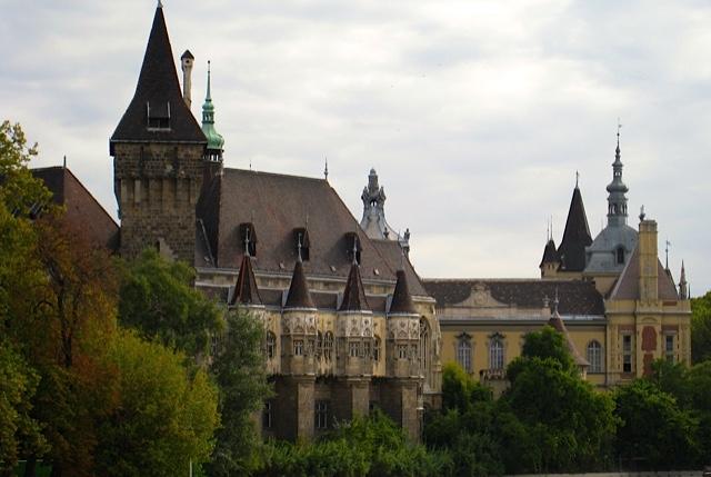 Budapest Hungary Vajdahunyad Castle Side