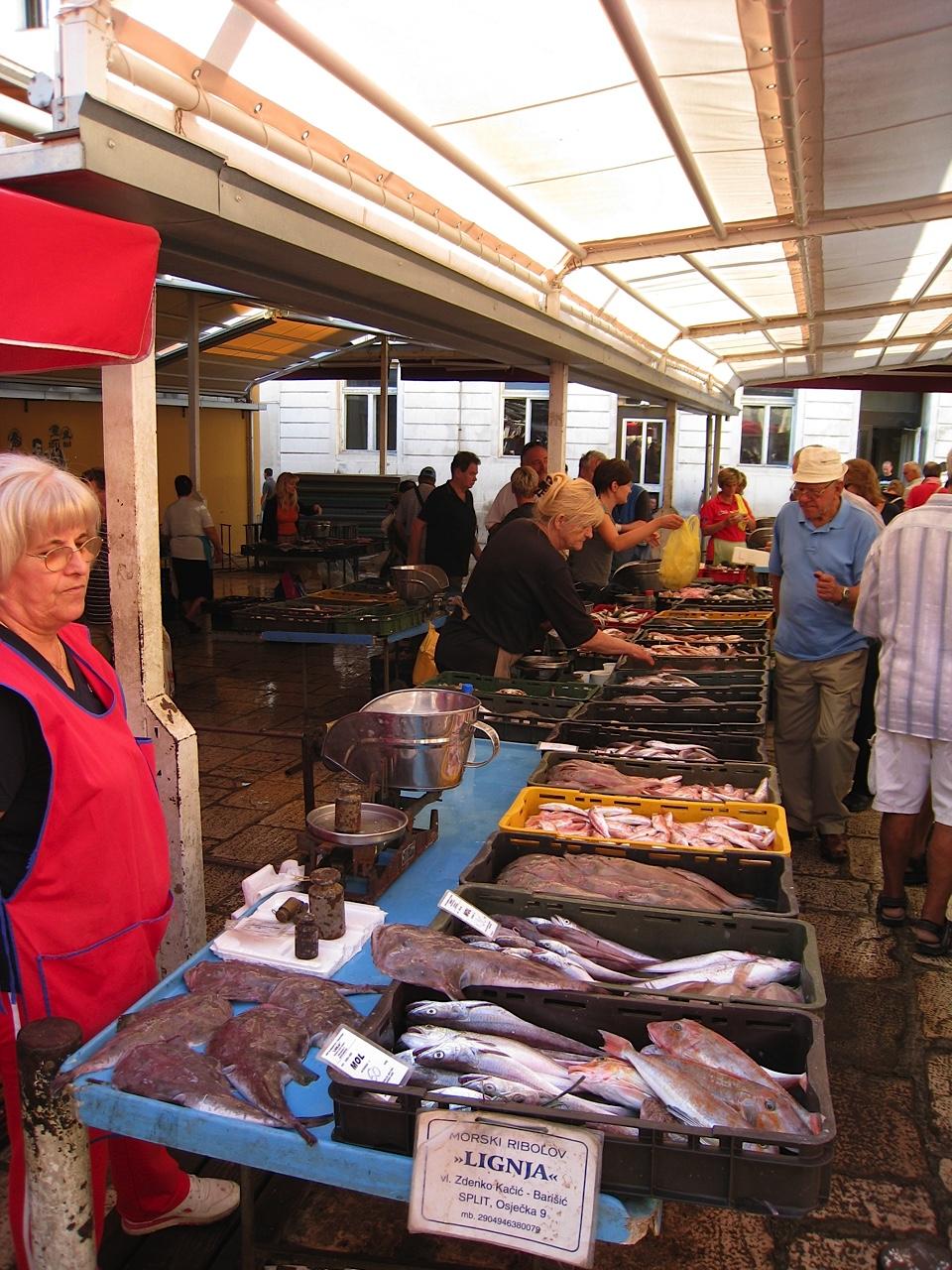 Fish market near Diocletian's Palace
