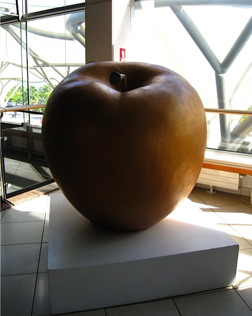 Giant apple in split airport