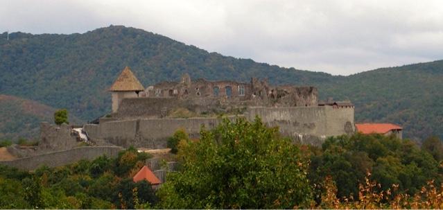 Visegrad castle ruins by the Danube