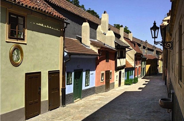 Prague Golden Lane near Church