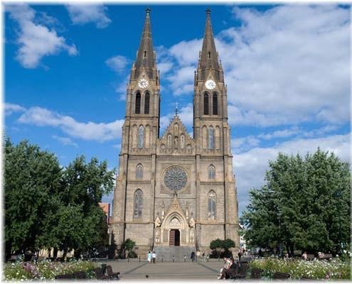 St Ludmila Church on Peace Square