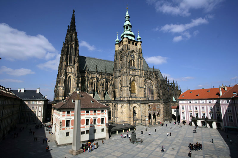St Vitus Cathedral Church in Prague