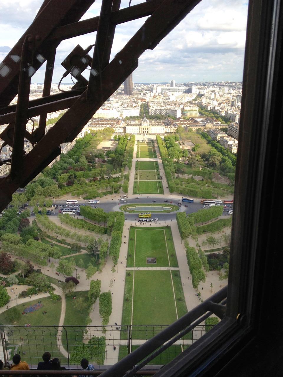 Champs de Mars, taken from the Jules Verne