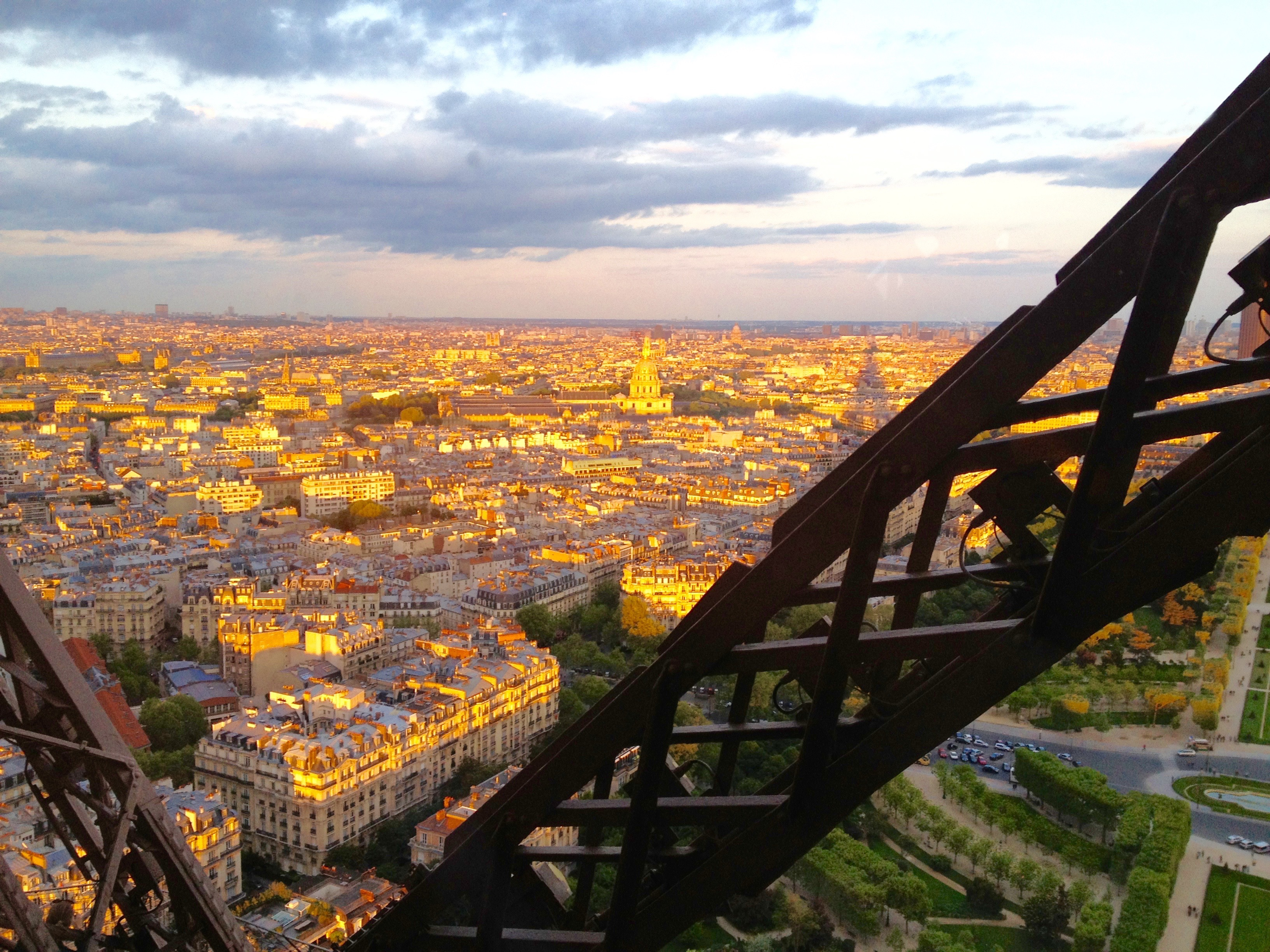 Looking down on Paris from the Jules Verne