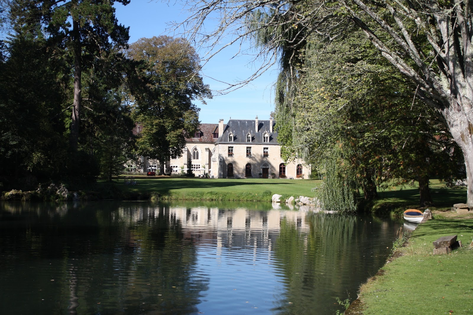 The front of the Abbaye de la Bussiere