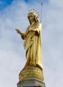 Gilded Virgin Mary