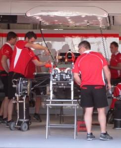 Formula 1 pits