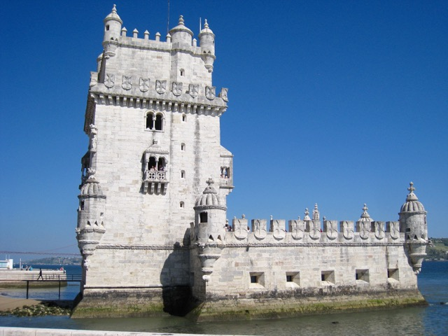 Belém Tower. The banner photo shows one of the terraces on the tower.