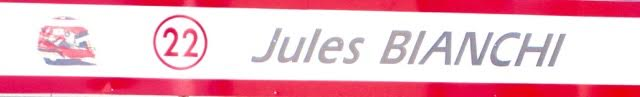 In memory of Jules Bianchi
