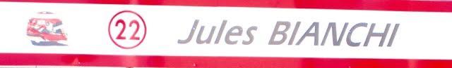 In memory of Jules Bianchi