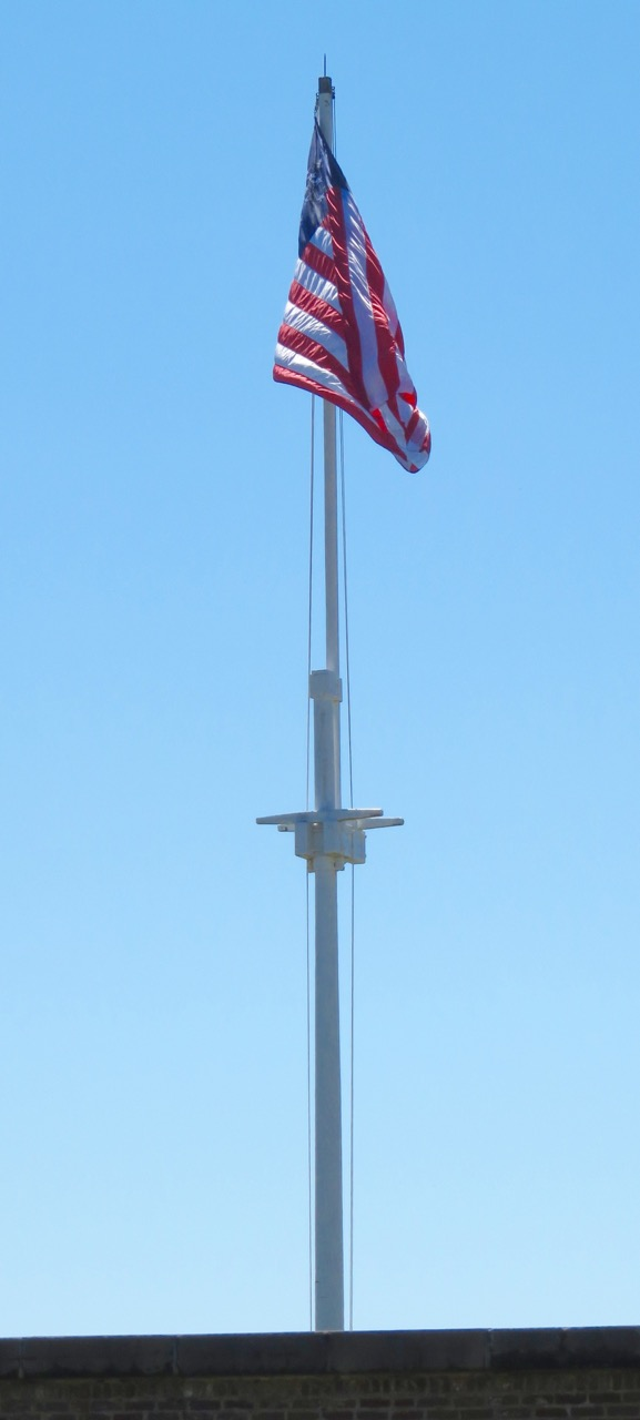 US Flag over Fort Moultrie